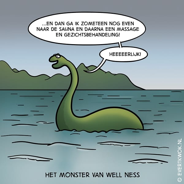 Moppen.nl - Mop: Evert Kwok - Het monster van Well Ness